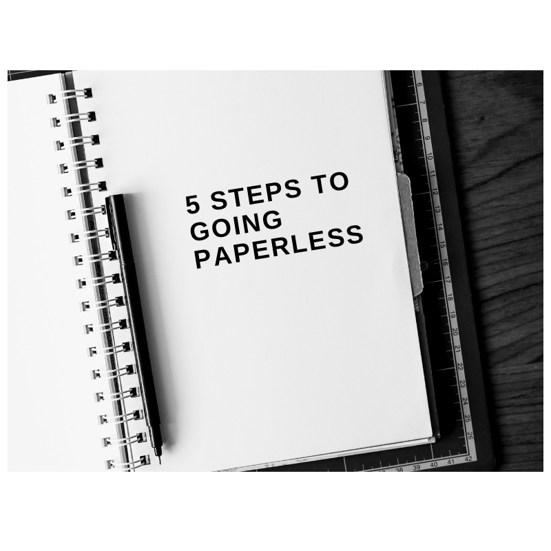 5 Steps to going paperless